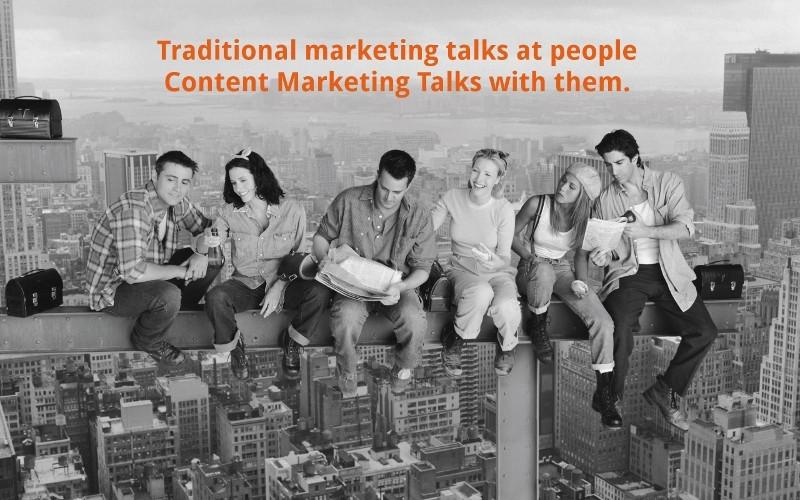 بازاریابی محتوایی با مردم همصحبت شدن است