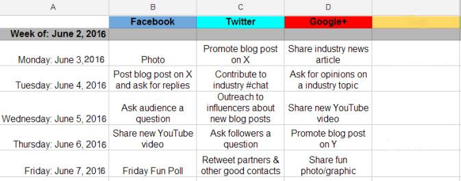 تقویم محتوای رسانه های اجتماعی